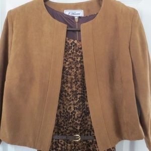 J Howard Dress & Suede Style Jacket, Size 12
